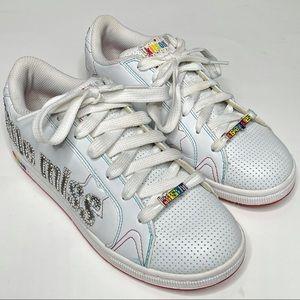 Kitson LA Little Miss Leather Fashion Sneaker Shoe